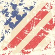 Retro Background with American Flag — Image vectorielle