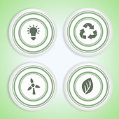 Set of Eco Badges — Stock Vector