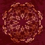 Floral circle ornament — Stock Vector