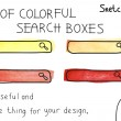 Set of colorful search boxes — Stock Vector