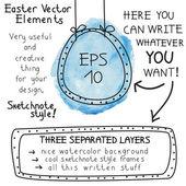 Easter vector elements — 图库矢量图片