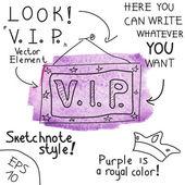 V.I.P. sign. Vector illustration — Stock Vector