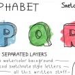 Colorful alphabet - Part 6 — Stock Vector #44297631