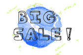 Big sale background — Stock Vector