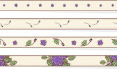 Set of floral borders — Stock Vector