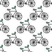 Doodle bicycles — Stock Vector