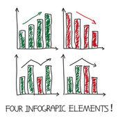 Set of our infographic elements — Vecteur
