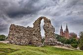 Ruins of the Rezekne Castle Hill. Latvia — Stock Photo
