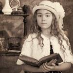 Little girl vintage photograph — Stock Photo #21416895