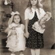 Royalty-Free Stock Photo: Two little girls Vintage Photograph