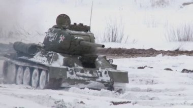 Russian Tanks T34 — Stock Video