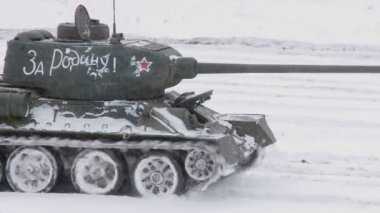 Legendary Russian Tanks T34 — Stock Video