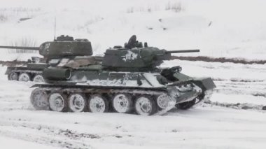 Russian Tank T34 — Stock Video