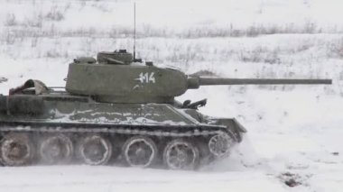 Legendary Russian Tank T34 — Stock Video