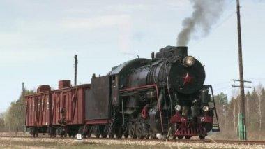 Steam Locomotive Train — Stock Video
