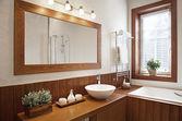 Modern Residential Home Bathroom — Stock Photo