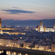 Medieval town of Florence with Duomo, Italy — Stock Photo