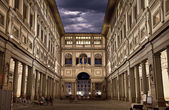 Uffizi Gallery. Night Shot — Stock Photo