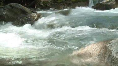"""Landscape of """"Argentino"""" lake with """"Perito Moreno"""" glacier. — Stock Video"""