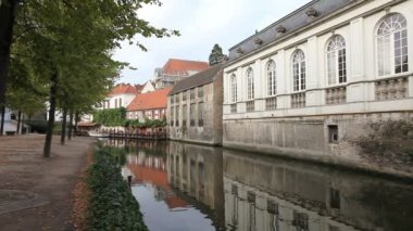 Bruges canal, Belgium — Stock Video