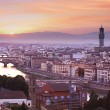 Florence skyline at sunset, Italy — Stock Photo