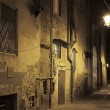 Night streets of Pisa, Italy — Stock Photo