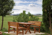 Picnic table — Stock Photo