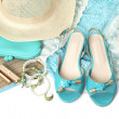 Stock Photo: Female accessories isolated on white