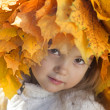 Beautiful fall girl — Stock Photo