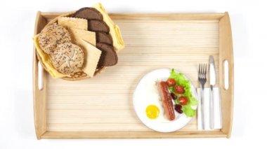 Breakfast. Time-lapse video — Stock Video