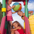 Girls at the playground — Stok fotoğraf