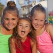 Portrait of three little girls — Stock Photo