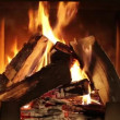 Stock Video: Fireplace