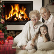 Celebrating Christmas holidays — Stock Photo