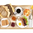 Постер, плакат: Straight shot of breakfast tray