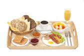 Breakfast tray — Stock Photo