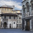 Streets of Florence at early morning — Stock Photo