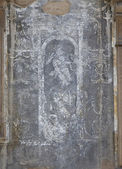 Antique fresco on the wall, closeup — Stockfoto