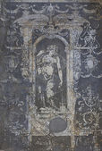 Ancient painting on the wall, closeup — Stock Photo