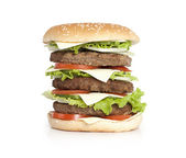 Hamburger isolated on white — Stock Photo