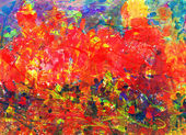 Childs abstract painting — Stockfoto
