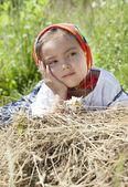 Retrato de verão da menina — Foto Stock