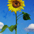 Beautiful sunflower. Artistic oil painting style — Stock Photo #50976609