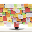 Monitor with post-it notes — Stock Photo #51083225