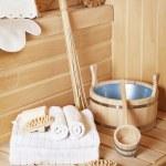 Steam bath-room accessories — Stock Photo