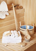 Steam bath-room accessories — Stock Photo