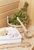 Some accessories in Russian baths — Stock Photo