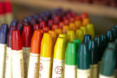 Barevné voskové pastelky — Stock fotografie