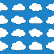 Collection of vector clouds — Vector de stock #12016375