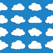 ストックベクタ: Collection of vector clouds